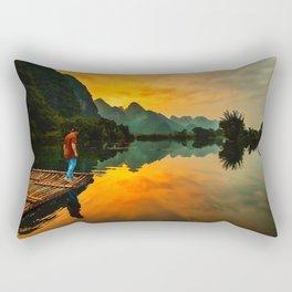 Sunrise on the Lake (Color) Rectangular Pillow
