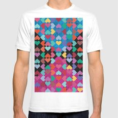 Colorful Love Pattern II White Mens Fitted Tee MEDIUM