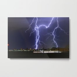 Lightening Strikes Metal Print