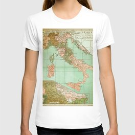 Italy in 1490 - Vintage Map Series T-shirt