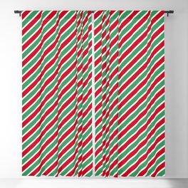Christmas Tight Stripes Blackout Curtain