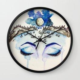 Lifeless Eyes Wall Clock