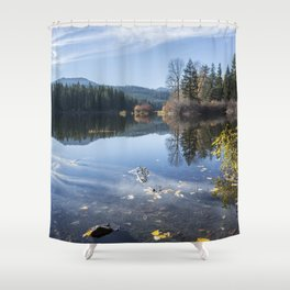 Beautiful Fall Day at Fish Lake Shower Curtain