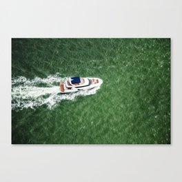 boat yatch in miami Canvas Print