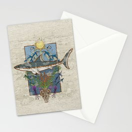 Great White Guardian - Minoan Fresco Stationery Cards