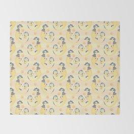Heliop-tile Throw Blanket