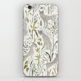 Grey Cheetahs iPhone Skin
