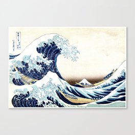 The Great Wave off KanagawA muted Canvas Print