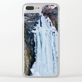Frozen Waterfall Clear iPhone Case