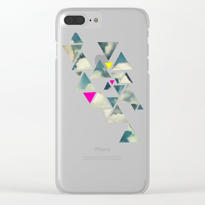 Shattered Sky Clear iPhone Case