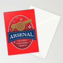 North London Red Football Stationery Cards