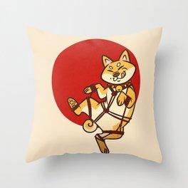 Shibari Inu Throw Pillow
