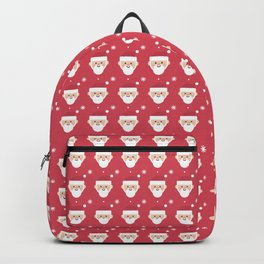 Santa Clause And Snowflake Christmas Pattern Backpack