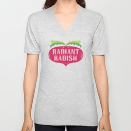 Radiant Radish Unisex V-Neck