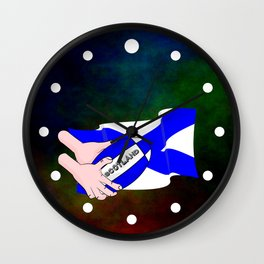 Rugby Scotland Flag Wall Clock