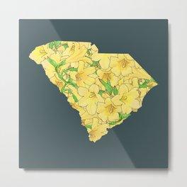 South Carolina in Flowers Metal Print