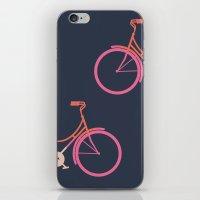 bike iPhone & iPod Skins featuring Bike by Leandro Pita