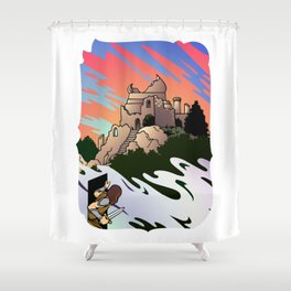 Fantastic World Shower Curtain
