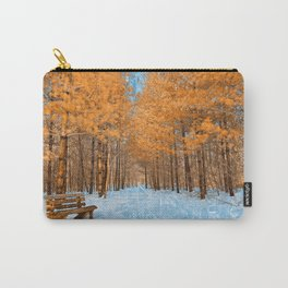 Burning Ice Forest Trail Carry-All Pouch