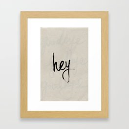 greetings Framed Art Print