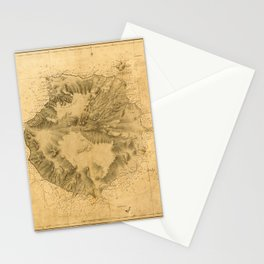 Map Of Canary Islands 1563 Stationery Cards