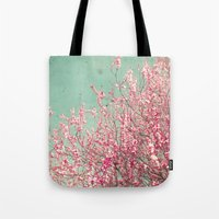 blossom Tote Bags featuring Blossom by Cassia Beck