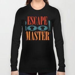Escape Game room live adventure gift puzzle idea Long Sleeve T-shirt