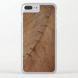 Bark Texture, Palm Bark, Primitive Clear iPhone Case