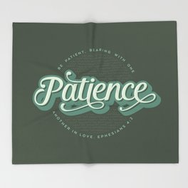 """Patience"" Bible Verse Throw Blanket"