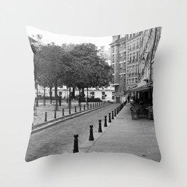 Paris in Black and White, Place Dauohine Throw Pillow