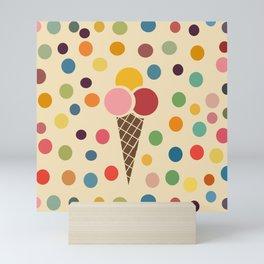 sweet summer ice cream Mini Art Print