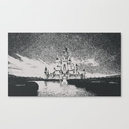 castle black and white Canvas Print