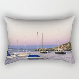 Earth's shadow over the harbor Rectangular Pillow