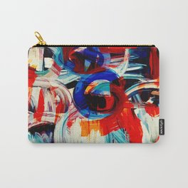 Abstract Action American Painting Carry-All Pouch