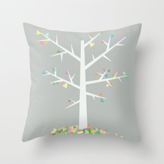Graphic Tree  Throw Pillow