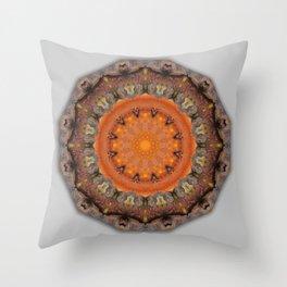 Colors of Rust / mandala-style-rust Throw Pillow