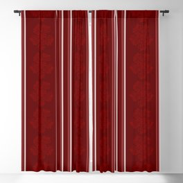Abigail Floral Design in Maroon Blackout Curtain