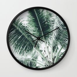Maui Paradise Palm Hawaii Wall Clock