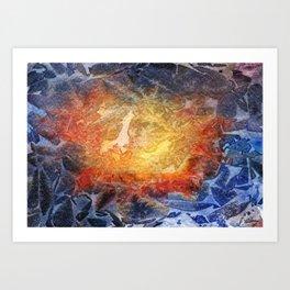 Visages Art Print