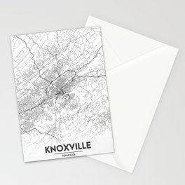 Minimal City Maps - Map Of Knoxville, Tennessee, United States Stationery Cards