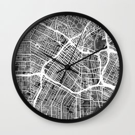Los Angeles City Street Map Wall Clock
