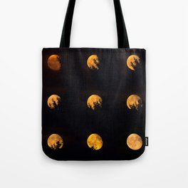 Red blood waning moon Tote Bag
