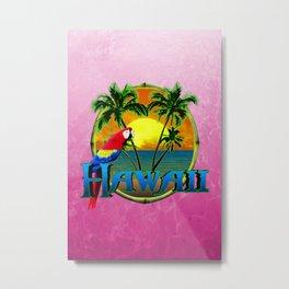 Pink Hawaii Sunset Metal Print