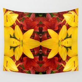 """""""A Gathering of Lilies"""" Remix - 4 (1-1) [D4469~57] Wall Tapestry"""