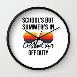 School Administrator Summer Vacation Graduation Wall Clock