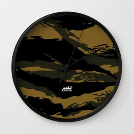 Green Tiger Camouflage Wall Clock