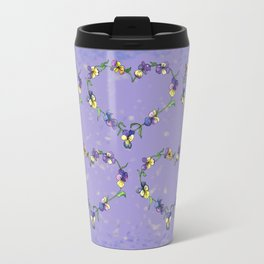 Pansy Heart Travel Mug