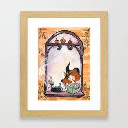 Window Witch/Halloween Framed Art Print