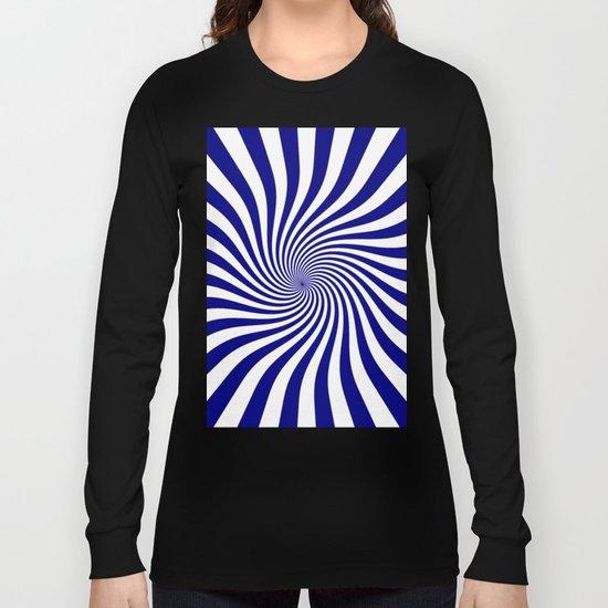 Swirl (Navy Blue/White) Long Sleeve T-shirt