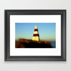 Obelisk on Cape Dombey Framed Art Print